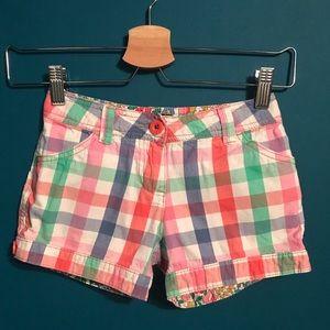 Bundle 2 for $15. Mini Boden cotton checked shorts